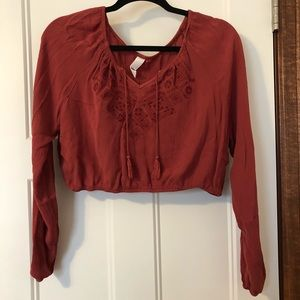 Aeropostale: long sleeve crop top